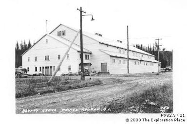 Photo of the Prince George Civic Arena circa 1939
