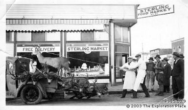 Photo of Sterling Food Market - corner of George Street and Third Avenue, 1930s