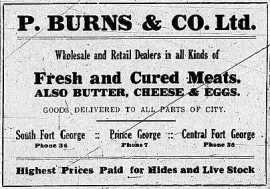 P. Burns & Co. advertisement - May 28, 1915, Prince George Herald