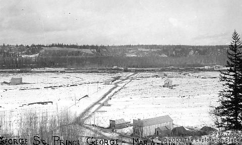 Photo of Prince George townsite, March 1914