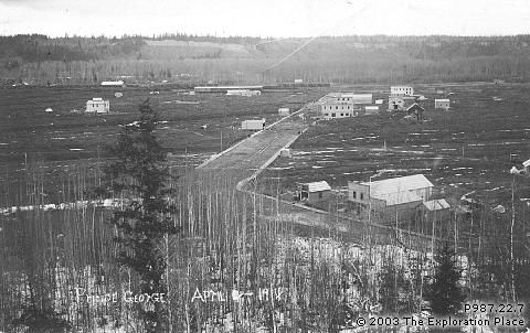 Photo of Prince George townsite, April 1914