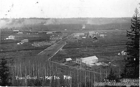 Photo of Prince George townsite, May 1914