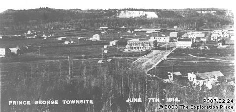 Photo of Prince George townsite, June 1914
