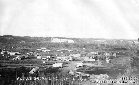 Photo of Prince George townsite, September 1914