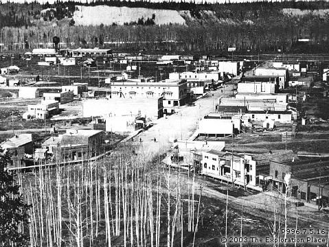 Photo of Prince George townsite, March 1915