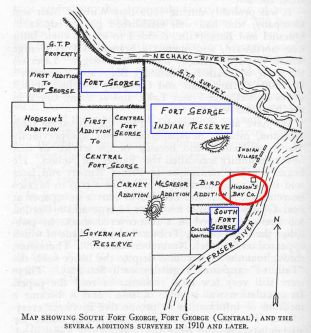 Map of Fort George District circa 1910