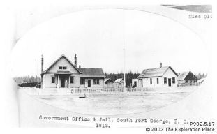 Photo of Fort George District government offices, 1912