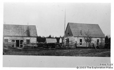 "Photo of Hudson's Bay Company ""Fort George"" trading post, circa 1913"