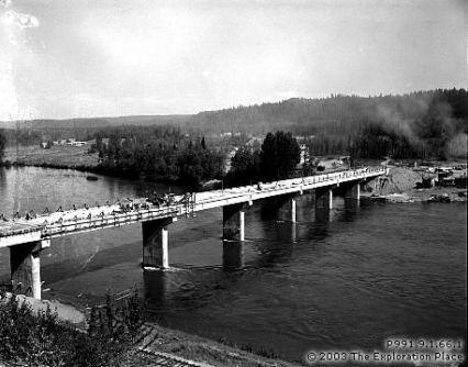 John Hart Bridge under construction, July 1958.