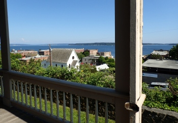 The view from the front porch of Rothschild House.