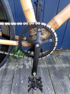 Frame accepts any standard bottom bracket and crankset.