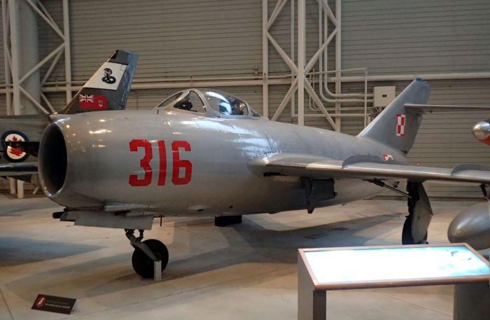 Photo of MiG-15 aircraft.