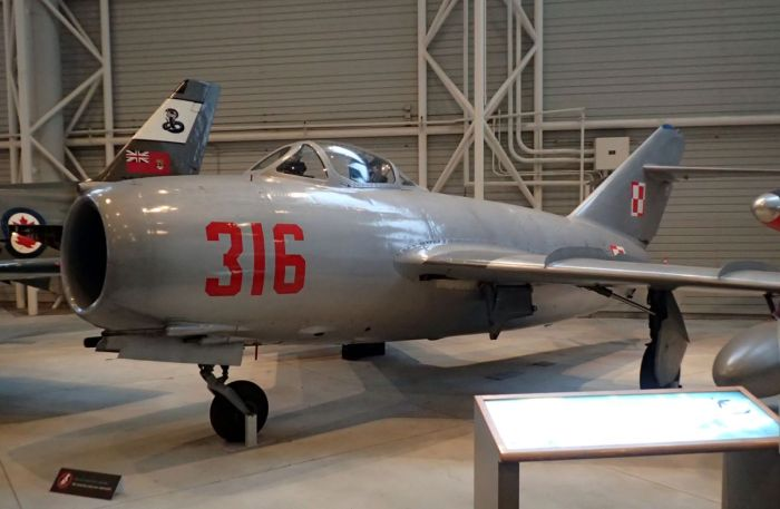 Photo of MiG-15 aircraft.